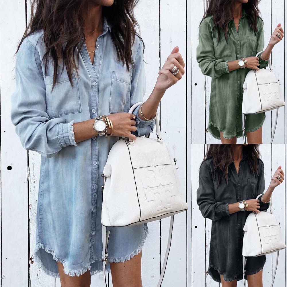 Women Shirts Casual Shirt Summer Long Tops Fashion