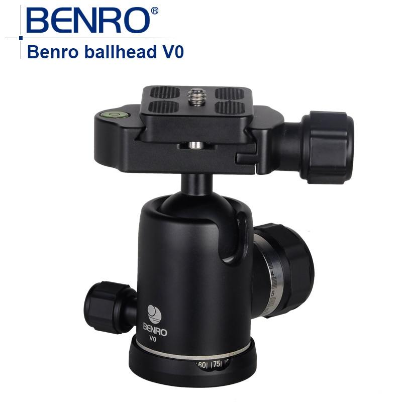 bilder für Benro V Serie kugelkopf V0 Professionelle Magnesiumlegierung ball köpfe Schnellspanner Für Kamera Stativ gewicht 0,32 kg Max Last 12 kg