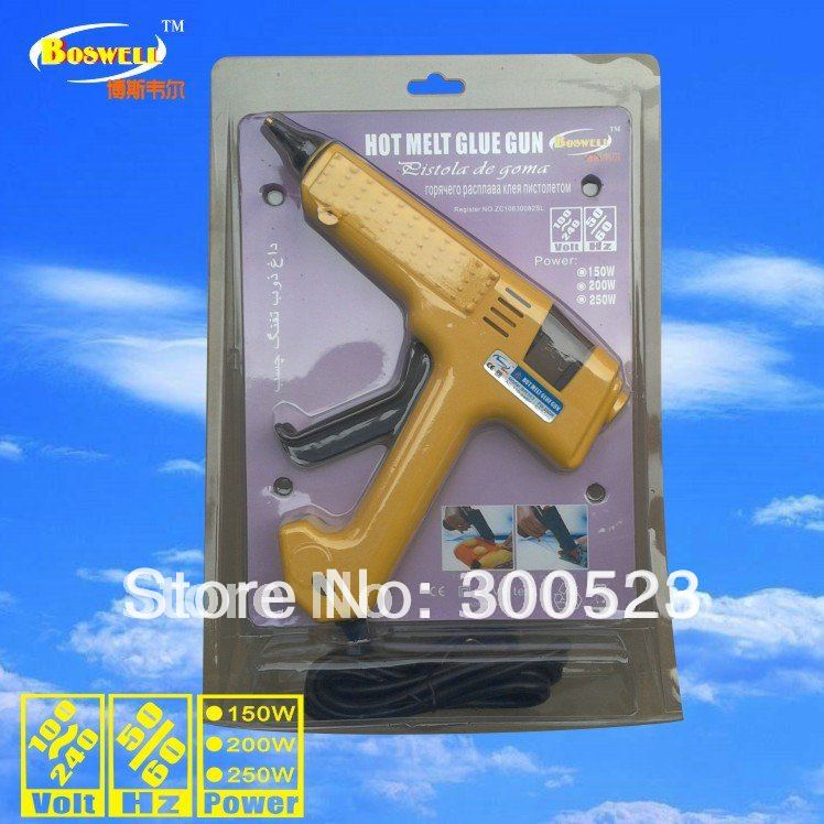150W 100-240V Hot Glue Gun Crafts Repair Tool Professional (US Plug), hot melt glue gun, Plus 5 Free Glue Sticks, 1 pcs/lot, hot melt glue gun 250 watt adjustable thermostats us plug 100 240v plus 5 transparent glue stick free shipping 1 pcs lot