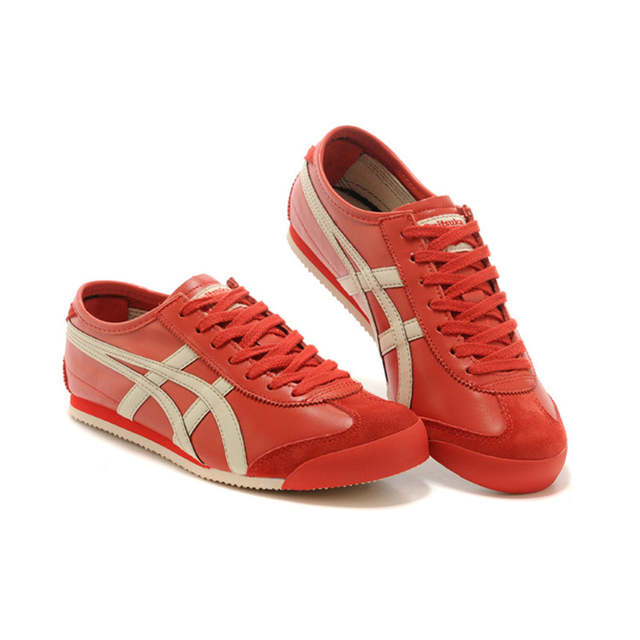 ONITSUKA TIGER MEXICO 66 Red beige Rubber sole Anti-slippery Comfortable  breathable Men Women Sneakers Badminton Shoes size36-44