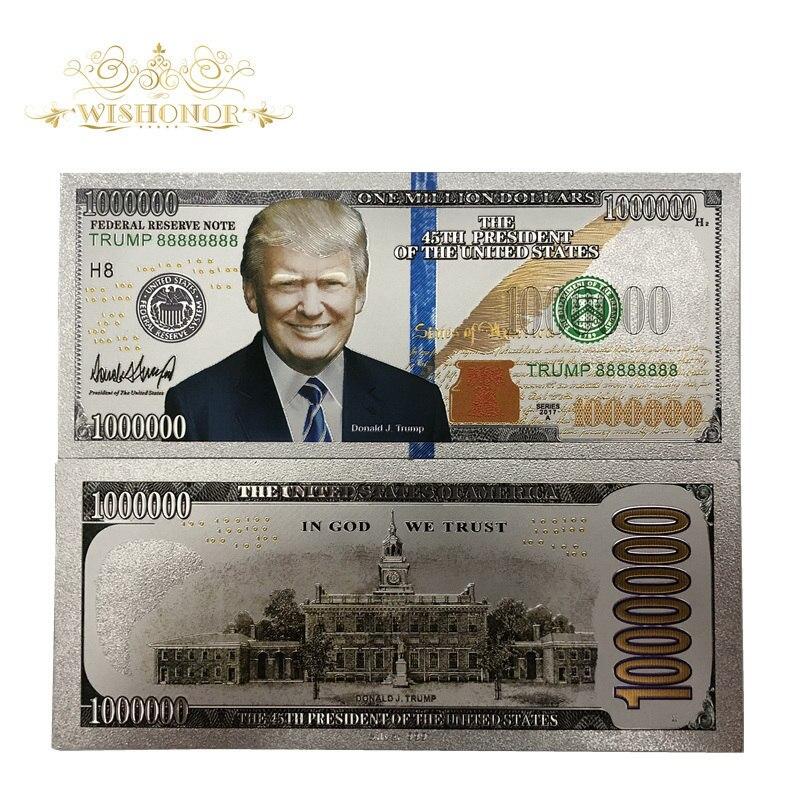 Produk Baru Untuk 10 Pcs Lot Amerika Uang Kertas Truf Uang Kertas 1 Juta Dolar Emas Uang Kertas Bill Mata Uang Hadiah Gratis Pengiriman Uang Kertas Emas Aliexpress
