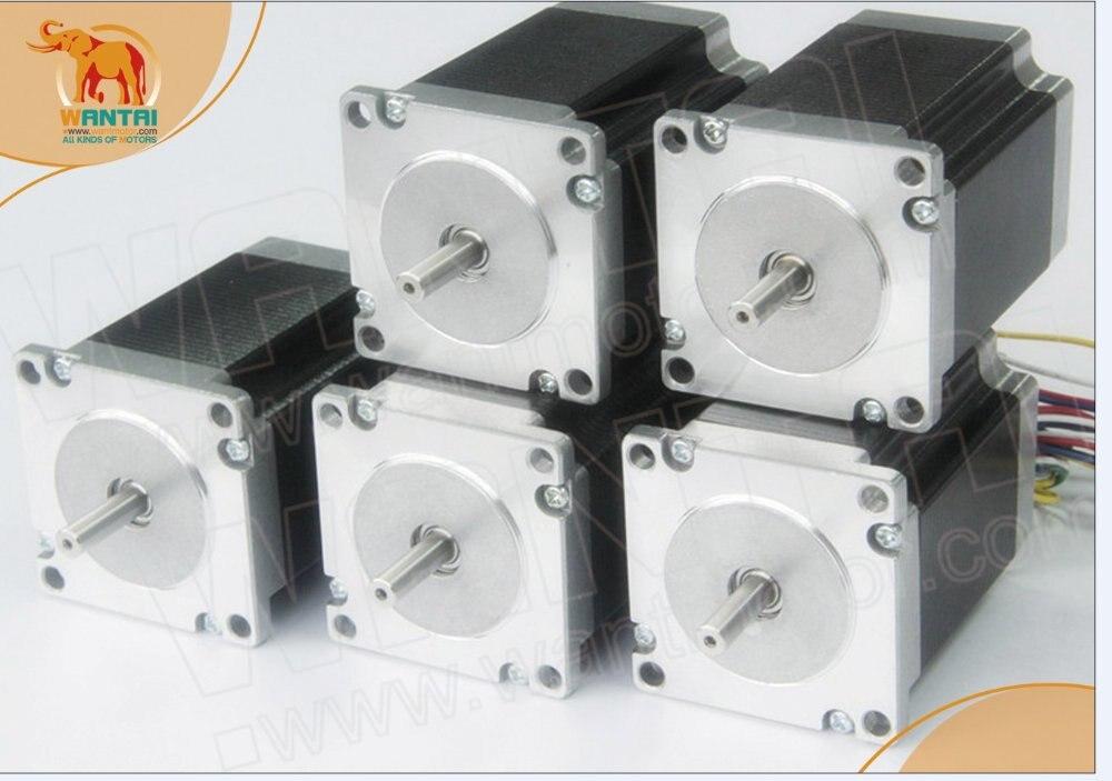 WANTAI 5 pièces NEMA23 moteur pas à pas 270OZ-IN, 3A 6 fils, 2 phases CNC moulin et coupe 57BYGH633