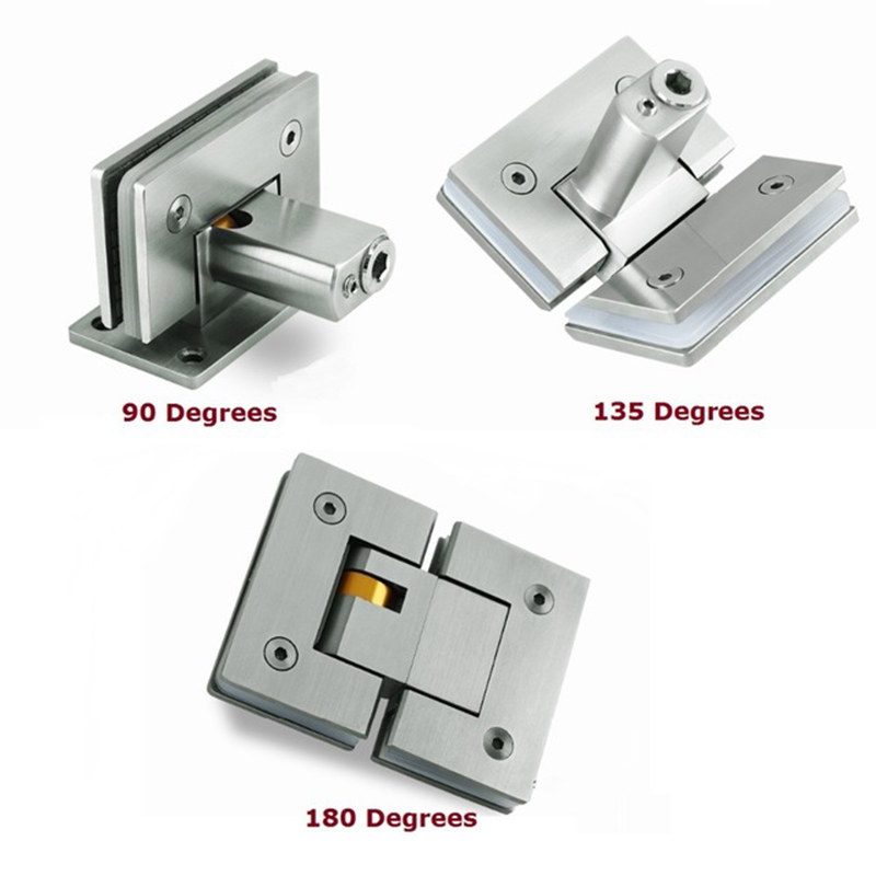 304 Stainless Steel Shower Screen Frameless Glass Hinge Soft Slow Hydraulic Adjustable