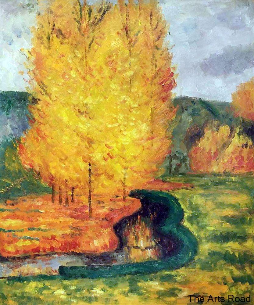Aliexpress.com : Buy Wall Paintings for Living Room By the Stream, Autumn, 1885 by Paul Gauguin ...