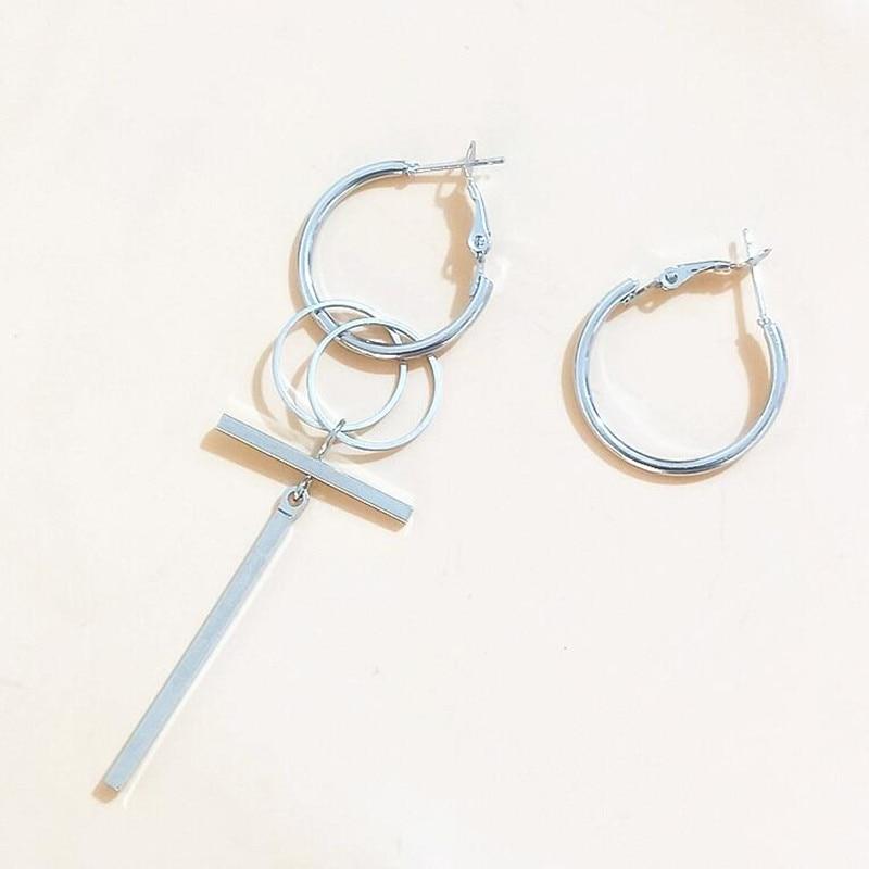1pair Korean Fashion Jewelry Bangtan Boys Album V DNA Geometric Stud Earrings For Women Brincos Vintage Long BTS Earrings Men