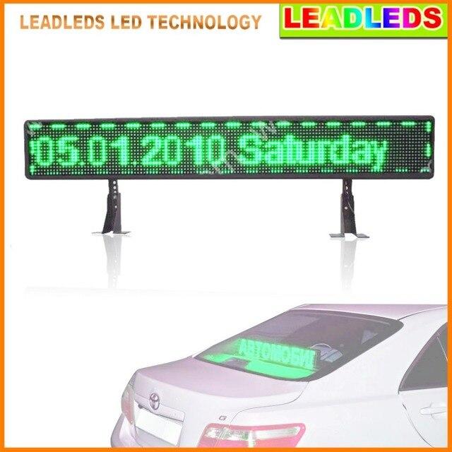 Зеленое такси P6 12 В SMD Аренда СВЕТОДИОДНЫХ табло USB ввод информации автомобиль логотип ПРИВЕЛО программируемый знак