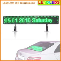 Green taxi P6 12 v SMD Car LED display Board USB information input the car logo LED programmable sign