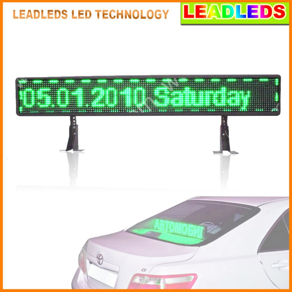 Green taxi P6 12 v SMD <font><b>Car</b></font> <font><b>LED</b></font> display Board <font><b>USB</b></font> information input the <font><b>car</b></font> <font><b>logo</b></font> <font><b>LED</b></font> programmable sign image