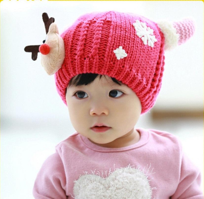 Lovely Winter baby hats newborn Cute Baby Beanie Hat Newborn Crochet Caps Children Cap Touca Infantil #JD82