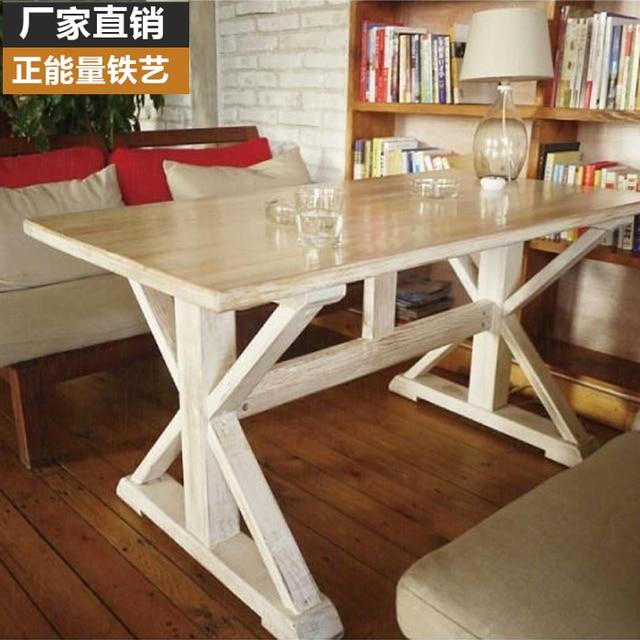 € 3334.92 |País de américa mesa de comedor de madera mesa de comedor IKEA  salón pequeño apartamento simple merienda té shop cafe mesas en Mesas ...