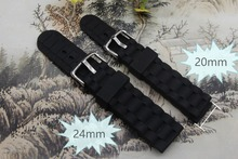 silicone Watch Strap for Casio/TISSOT 20mm /24mm Quality Replacement Silicone Rubber Diver