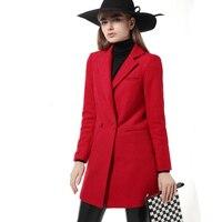 Top Quality Winter Jacket Women Wool Coat 2016 Fashion Slim Outwear Cloak Woolen Warm Blends Coats Jackets Manteau Femme
