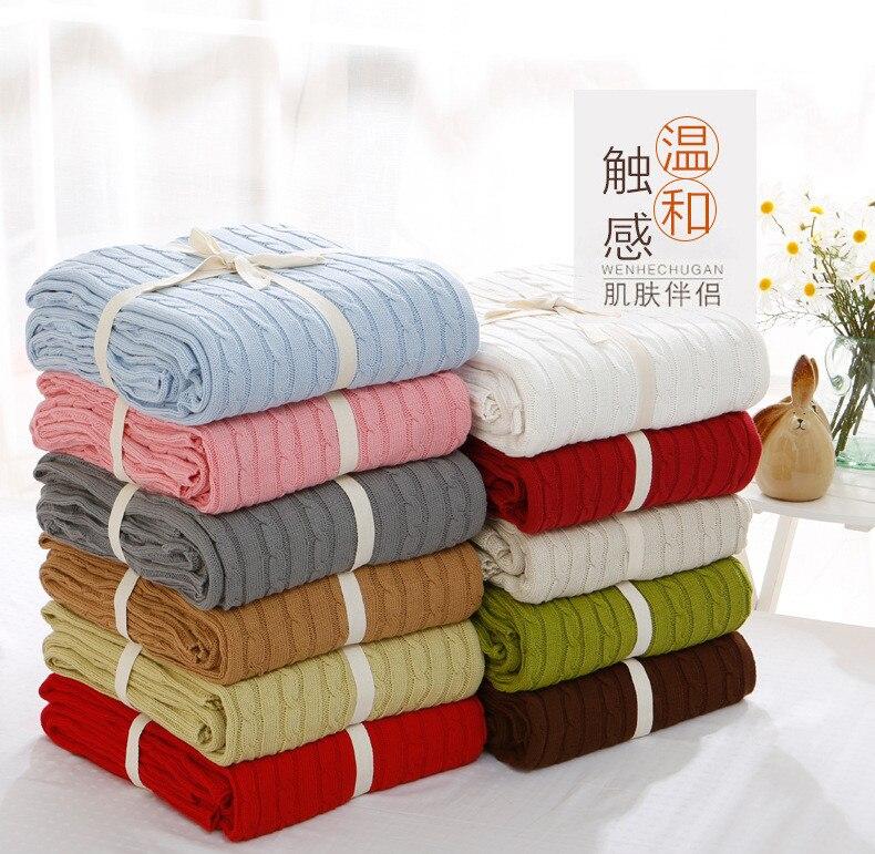 Bébé adulte Blanket180cm * 200 cm couvertures 100% coton tricoté nouveau-né bébé lange d'emmaillotage doux hiver bébé literie