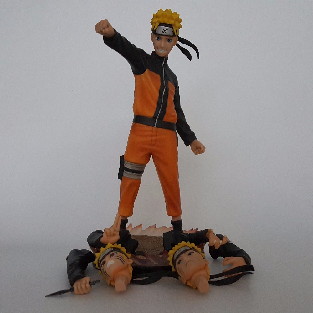 Naruto Action Figures PVC 260mm Collectible Model Toy Anime Movie Naruto Shippuden Action Figure Uzumaki Naruto 3 style avengers movie hulk pvc action figures collectible toy 1230cm retail box
