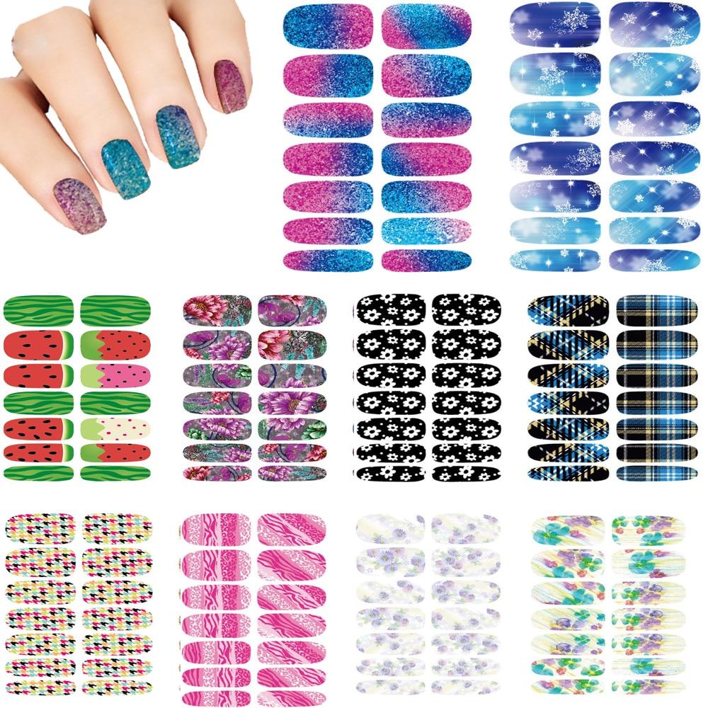 10pcs Nails Art Waterproof Makeup Water Transfer Nail