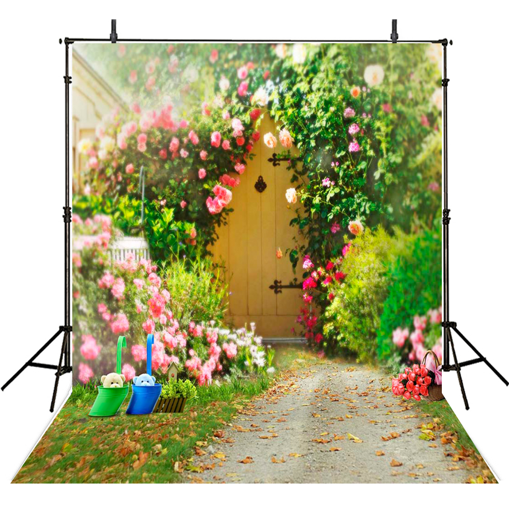 Spring Flowers Photography Backdrops Cloth Vinyl Backdrop For Photography Scenic Background For Photo Studio Foto Achtergrond