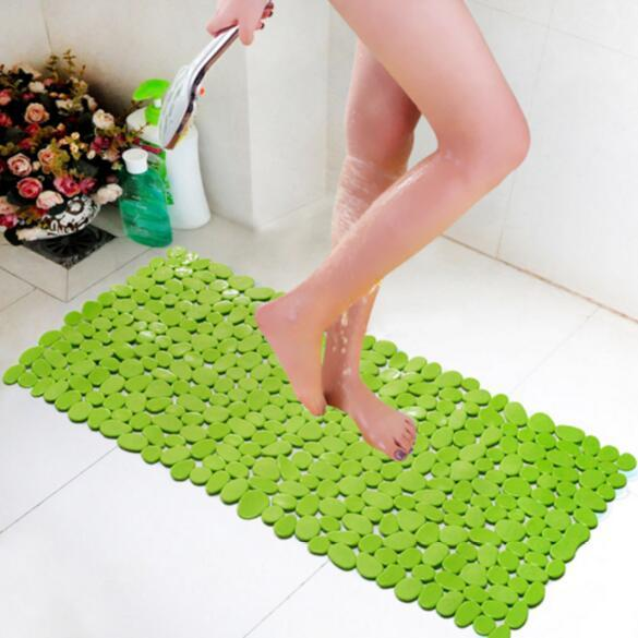 Vinyl Anti Slip Bacterial Stone Bath Mat Resistant Shower Mats Ful Suction Cup Gripping Bathtub Pads 70x35cm In Carpet From Home