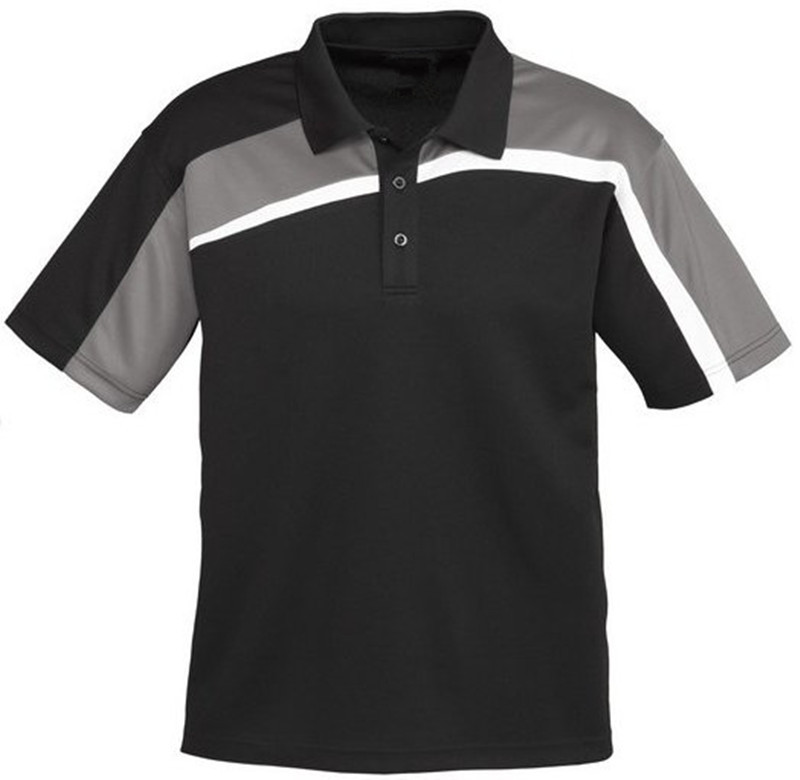 Custom design stripe polo shirt for men factory embroidery for Order company polo shirts
