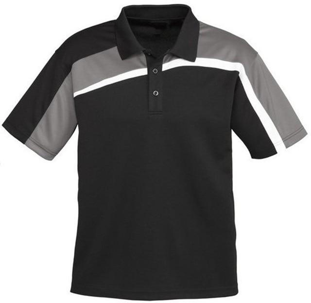 Custom design stripe polo shirt for men factory embroidery for Polo shirt logo design