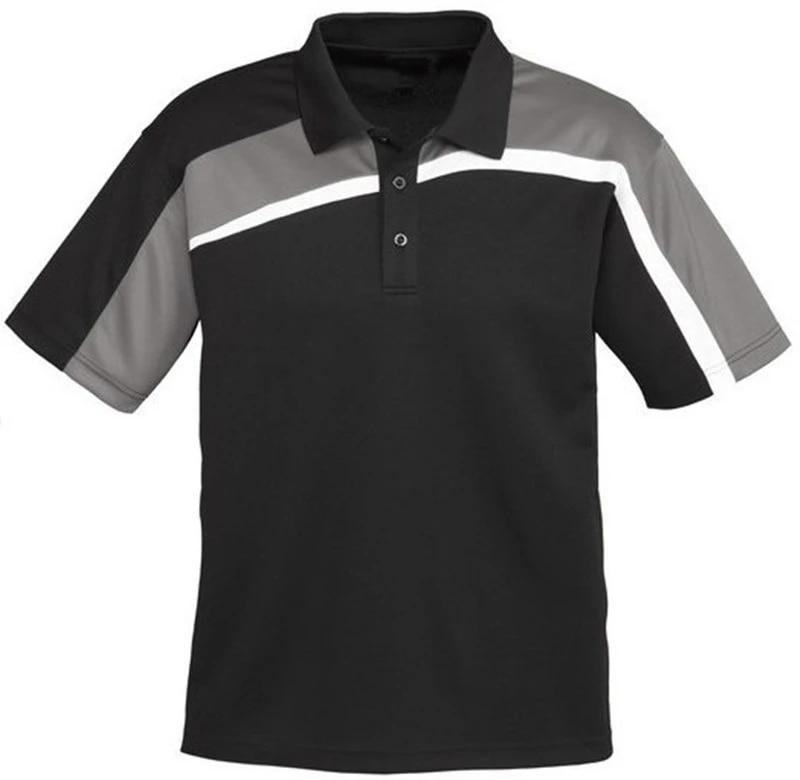 custom design stripe polo shirt for men factory embroidery logo hot sale