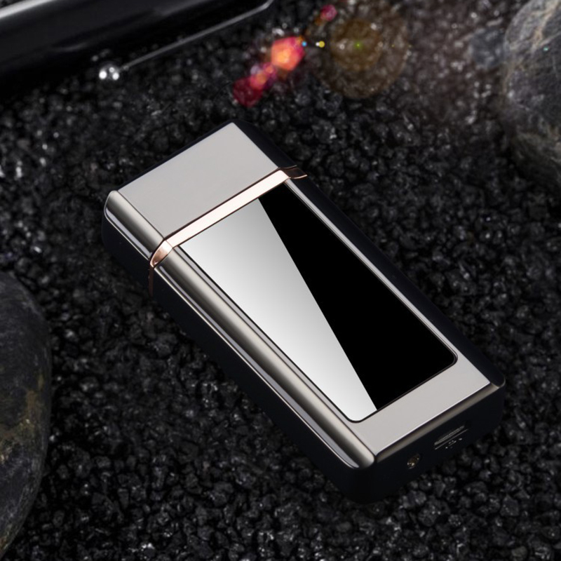 LED Screen USB Charging Touch Sensor Electronic Cigarette Lighter Flameless Rechargeable Windproof Tungsten Lighters