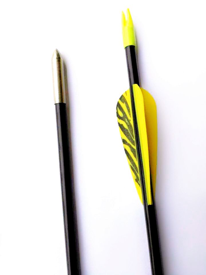 "12PK GPP 28/"" Tiger Vanes Fiberglass Youth Arrows for Recurve Bow 4 COLORS"