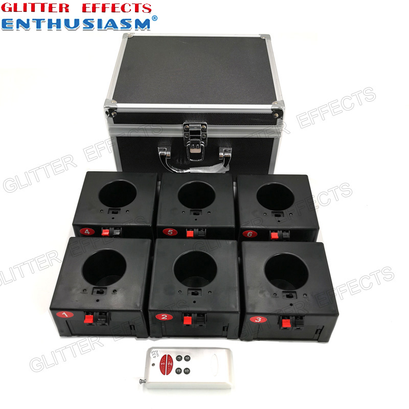 D06 Six Channel Remote Control Indoor Fountain Base Wedding Machine