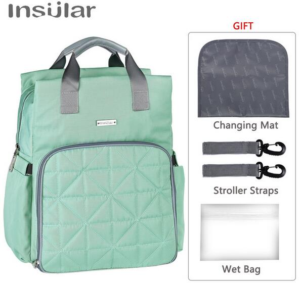 insular Baby Diaper for mom Stroller Maternity Nappy Changing Backpack Stuff Mommy Wet Bags Mother Travel Organizer Mummy lekebaby luiertas baby travel mummy maternity changing nappy diaper tote wet bag for stroller baby bags organizer mom backpack
