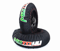 Motorcycle Tire Warmers Set 120 Front and 190/200 Rear Tyre Warmers 120/190 120/200 17 Moto Front and Rear Race black
