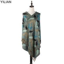 YILIAN Brand Classic Print Paisley Creative Graphics Women Scarf Multicolor Warm Fashion Head Shawl LL007