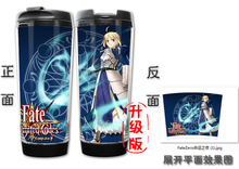 HOT SALE Fate/stay night Models Double Insulation Plastic Stainless Steel Mug Coffee Cup Space Cup(China)