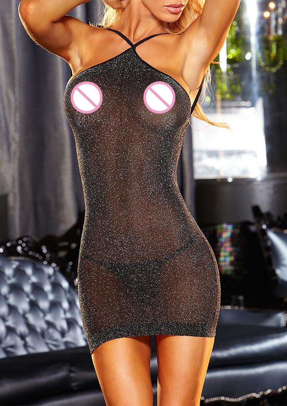 Hot Costumes érotique Lingerie Sexy sous-vêtements Babydoll/bébé femmes porno glisse Sexy robe vêtements de nuit + string