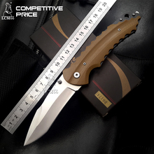 LCM66 Tactical SR folding knife 440 Blade All steel+G10 Handle +Glass impactor Camping Outdoor Survival Knives Pocket EDC Tools