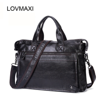 LOVMAXI Echtem Leder Tasche Geschäfts Männer Umhängetaschen Laptop Tote Aktentaschen Schulter Handtasche herren Umhängetasche