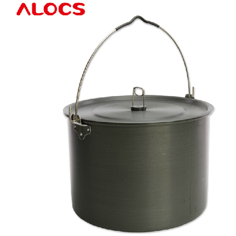 15L outdoor hanging pot Alocs three tripod buy another single hanging pot pot camping cookware - 10 CW-RT01 8 чайник походный alocs love road off cw k04 alocs cw k04 pro