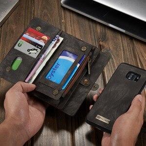 Image 5 - Capa de telefone para samsung galaxy s7 edge s8 s9 s10 plus s10e nota 8 9 10 pro caso multi funcional carteira couro ímã capa traseira
