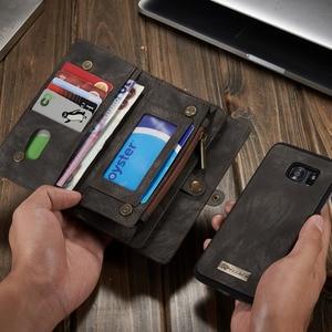 Image 5 - Чехол для телефона Samsung Galaxy S7 Edge S8 S9 S10 Plus S10E note 8 9 10 Pro, чехол, многофункциональный кошелек, кожаный магнитный чехол