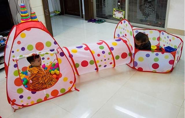In per bambini per bambini kids play tunnel tenda della casa