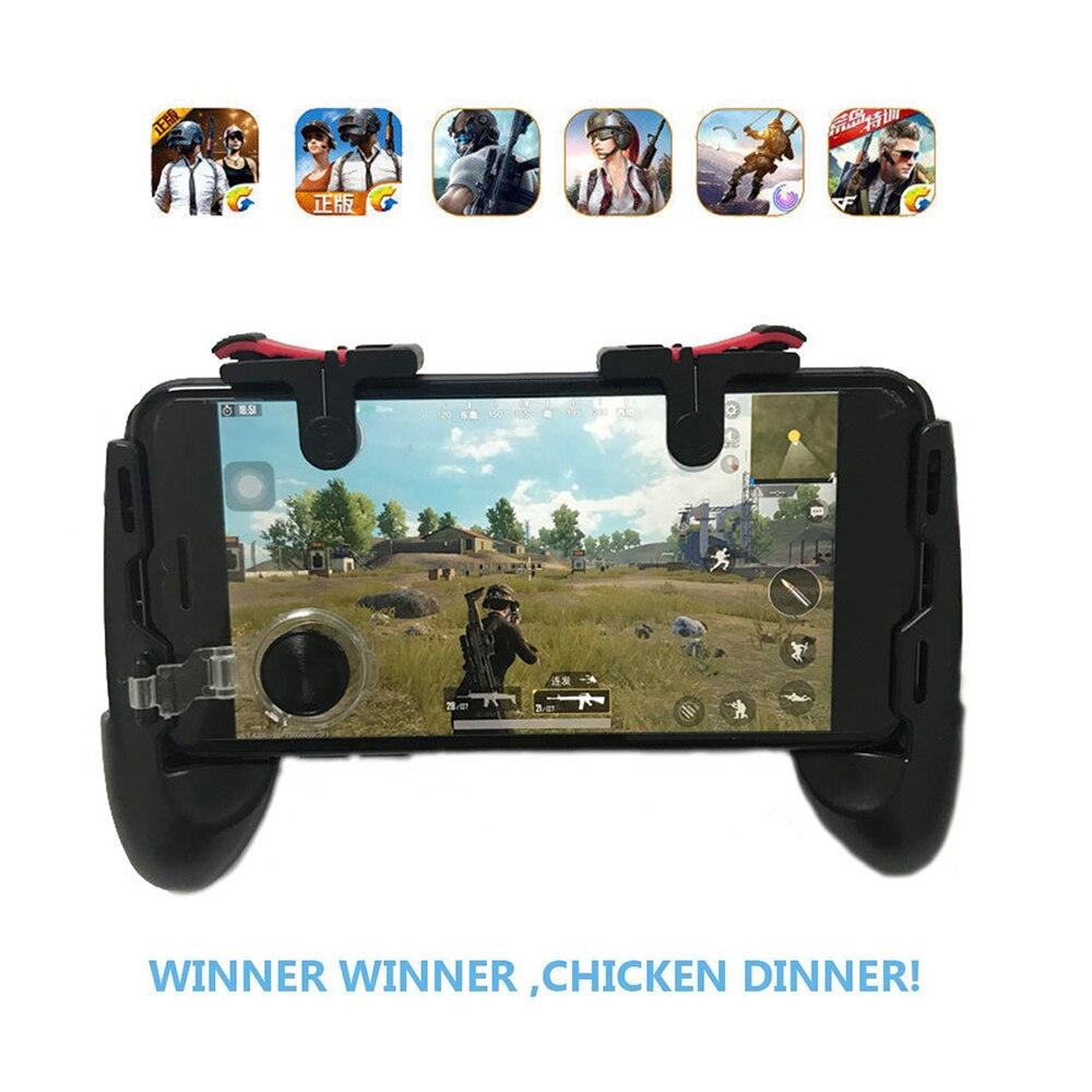 Neue Feuer PUBG Mobile Joystick Controller Gamepad PUGB L1 R1 Mobile Gaming Trigger Taste L1R1 Shooter Telefon Spiel Pad für iPhone