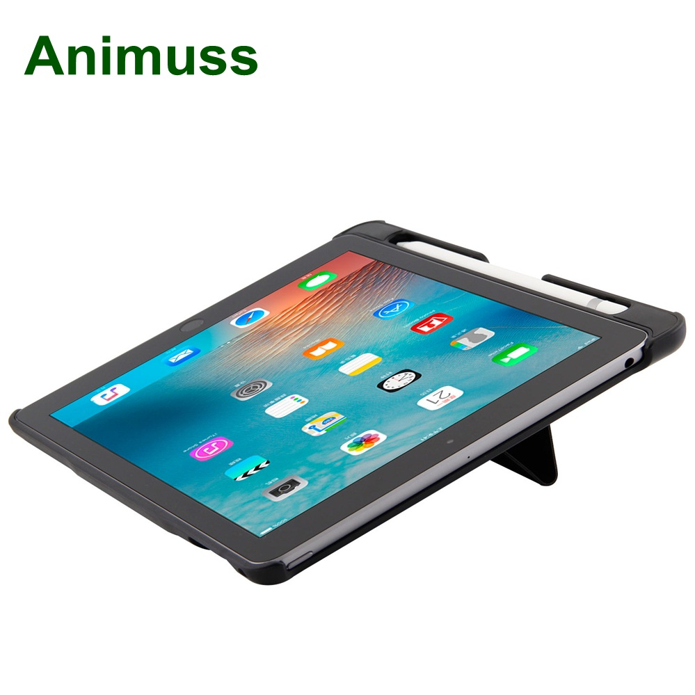 Animuss Detachable Flip Cover Leather Stand Smart Bluetooth Keyboard Case For Apple iPad 9.7 2017 2018 Air 2 A1893 A1954 A1822