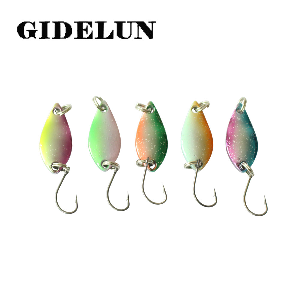 Fishing Lures Metal Spinner Baits Bass Tackle Crankbait Trout Spoon Trout W D3A5