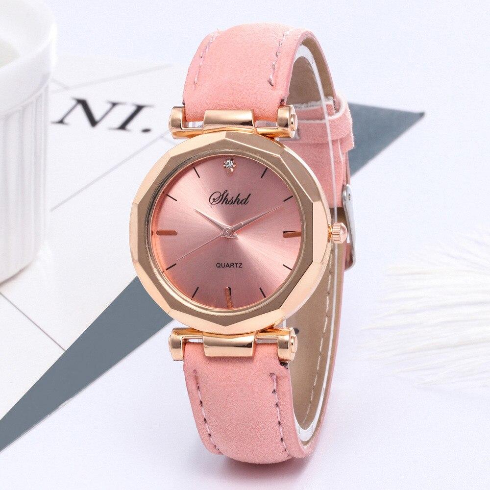 Hot Sale Women Watch Exquisite Irregular Small Dial Ladies Watch Luxury Rhinestone Quartz WristWatches Fashion Leather Clock #B