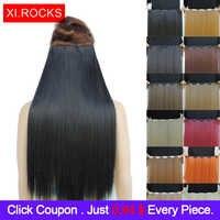 Wjlzz5050/1 p Xi. rocks syntetyczne 20 Cal Ombre ClipIn przedłużanie włosów długie proste fałszywe peruki rozszerzenia treski dla peruka damska