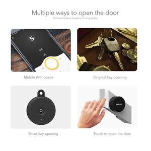 Image 4 - Sherlock serrure de porte intelligente Bluetooth, empreinte digitale et mot de passe, sans clé, serrure électronique intégrée Bluetooth, application pour téléphone