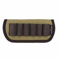 New Arrival Tourbon Hunting Accessories Tactical Military Canvas Shotgun Buttstock Belt Cartridges Holder Gun Ammo Pouch