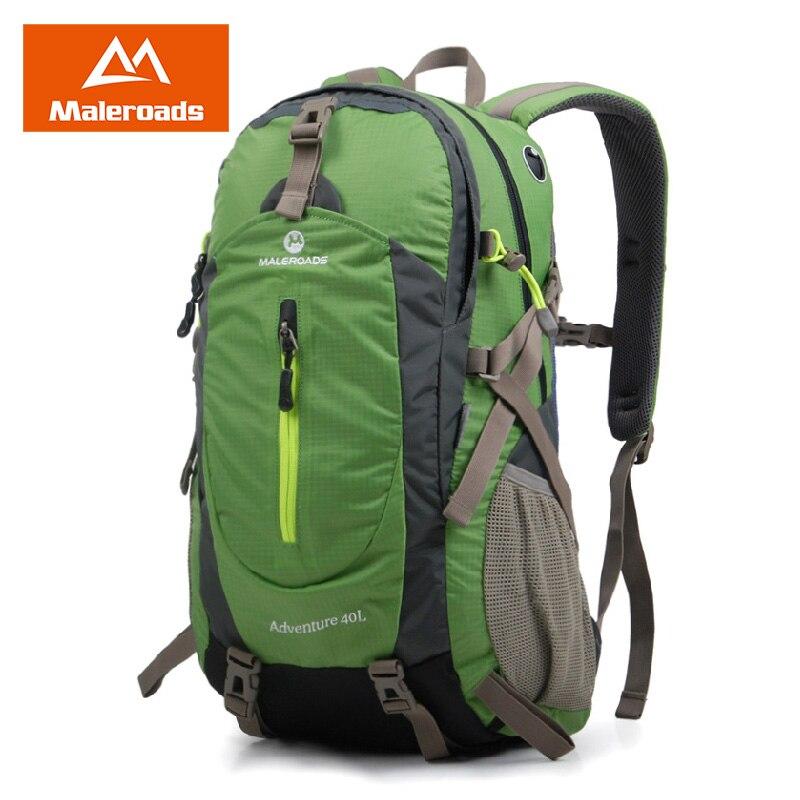Maleroads 40L sac à dos de voyage classique en plein air Camping randonnée Mochilas imperméable Nylon Trekking escalade sacs pour hommes femmes