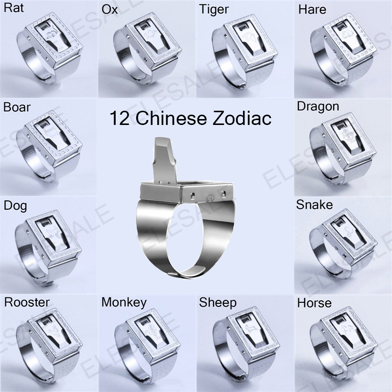 2018 New 12 Zodiac Stainless Steel Ring Adjustable Women Men Safety Tools Outdoor Hidden Survial Weapon Self Defense EDC Rings2018 New 12 Zodiac Stainless Steel Ring Adjustable Women Men Safety Tools Outdoor Hidden Survial Weapon Self Defense EDC Rings