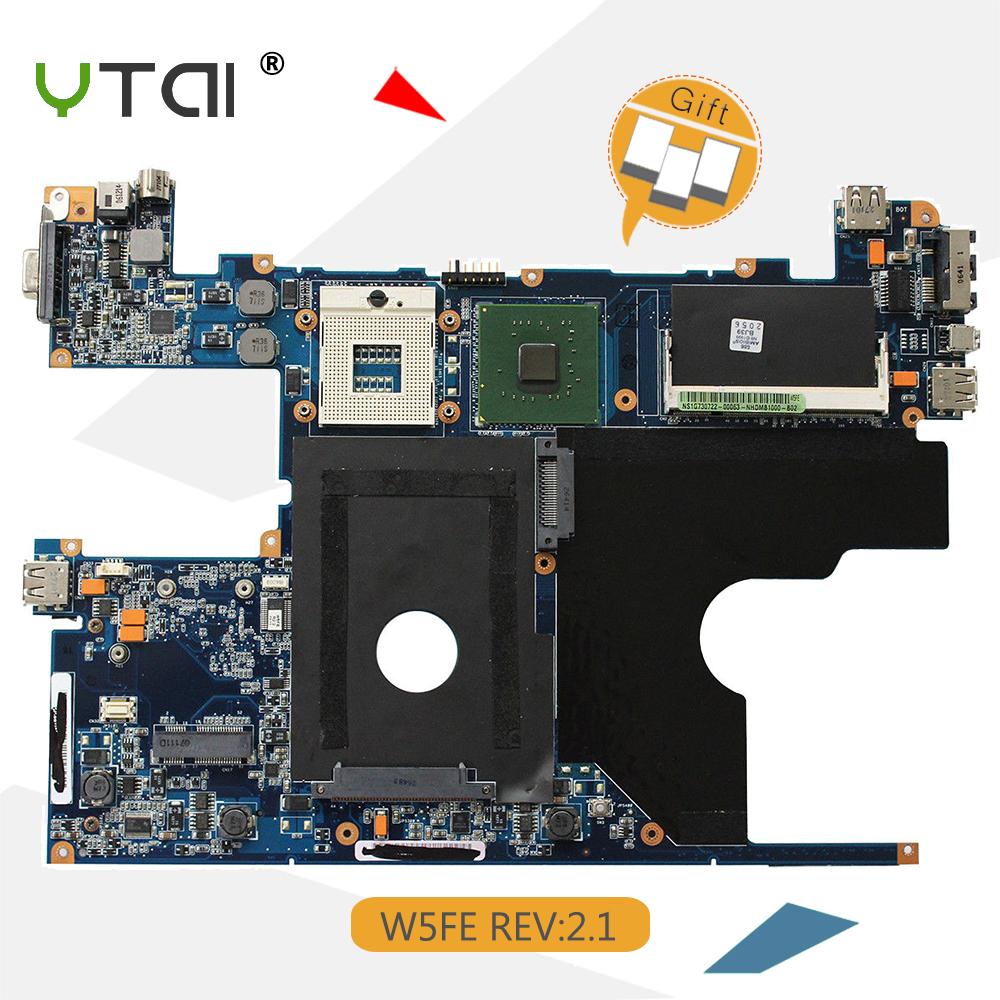 YTAI for ASUS W5FE laptop motherboard REV:2.1 08G25WE0021I PGA479M DDR2 GM45 mainboard цены