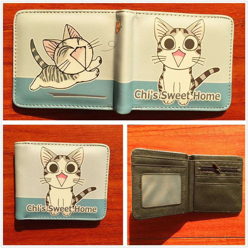 Cute cat pattern purse chi's sweet home men women wallets cion pocket money wallet W569 cat pattern pu purse