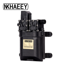 12V DC dual-core agricultural electric sprayer water diaphragm micro high-pressure self-priming car wash hammer drugs pump цена и фото